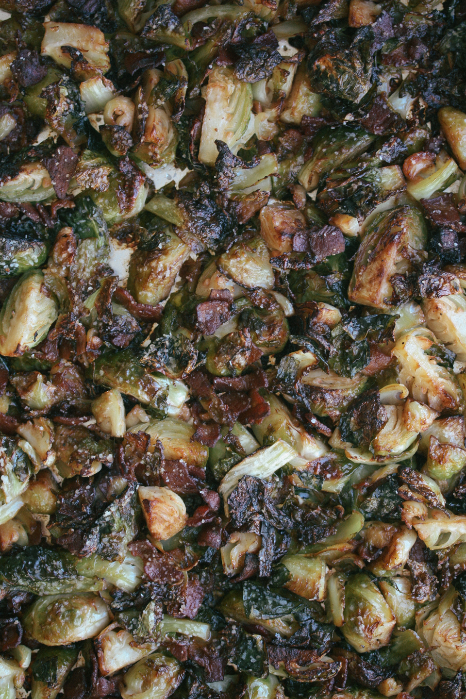 Roasted Brussels Sprouts & Bacon closeup