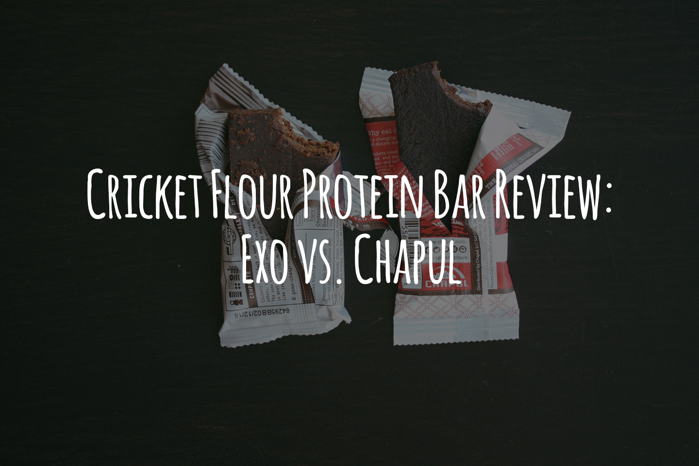 Cricket Flour Protein Bar Review: Exo vs. Chapul