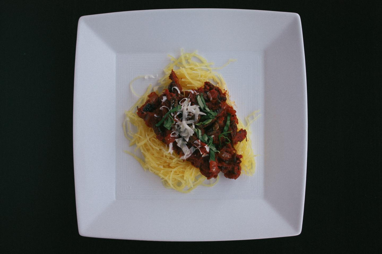 Silkworm Spaghetti Sauce with Spaghetti Squash