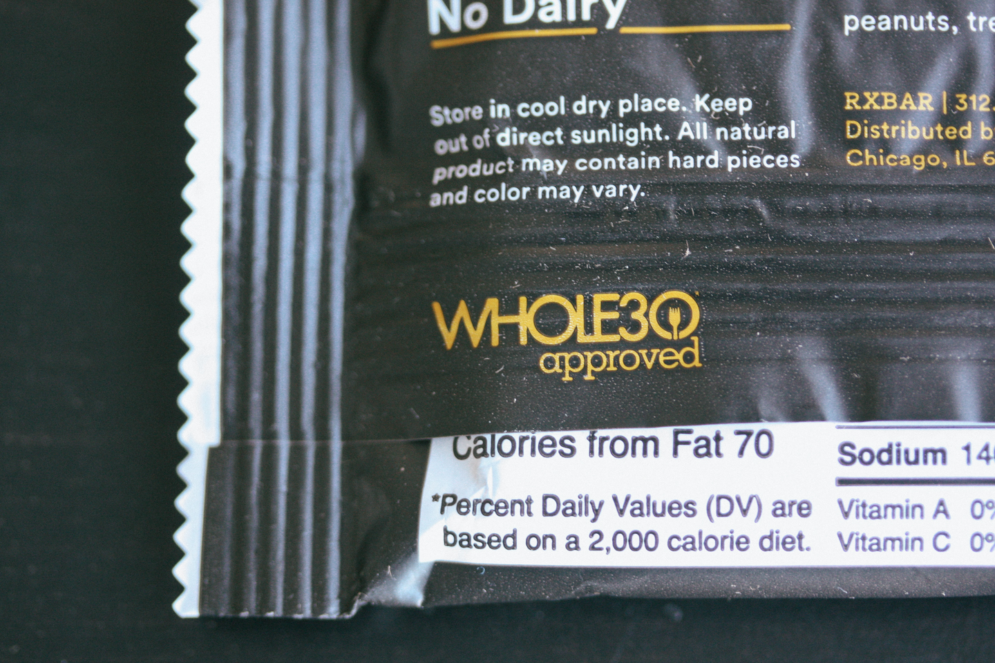 RXBARs are Whole 30