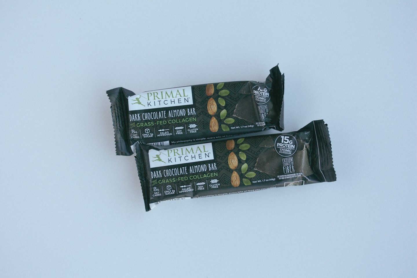primal kitchen dark chocolate almond bar review - that's so primal