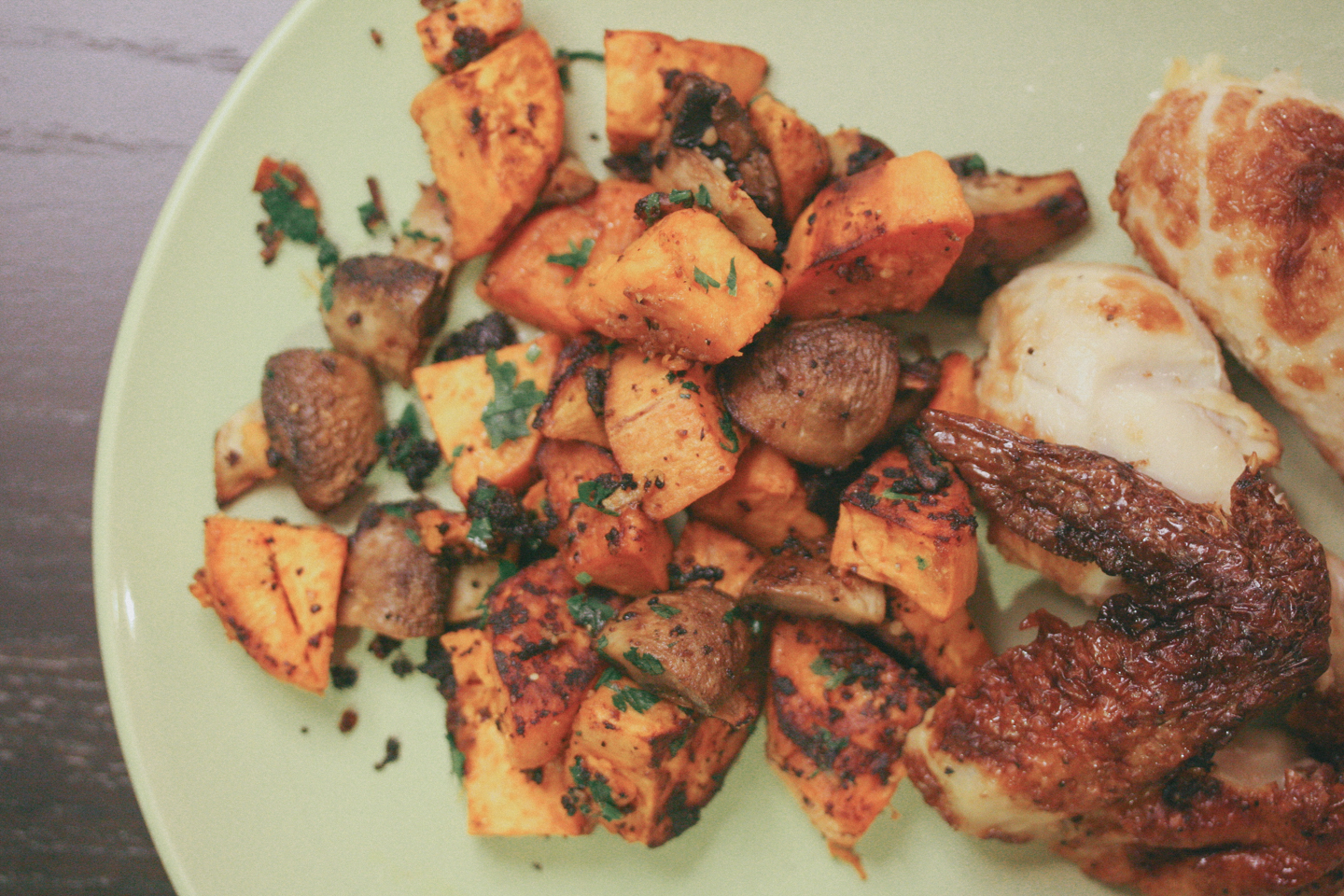 Roasted Miso Mushroom & Sweet Potato