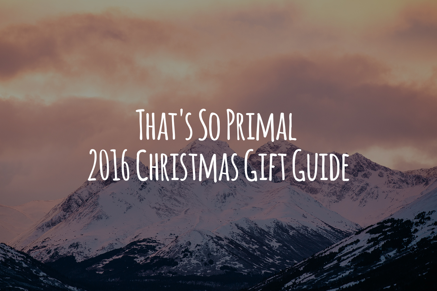 That's So Primal 2016 Christmas Gift Guide