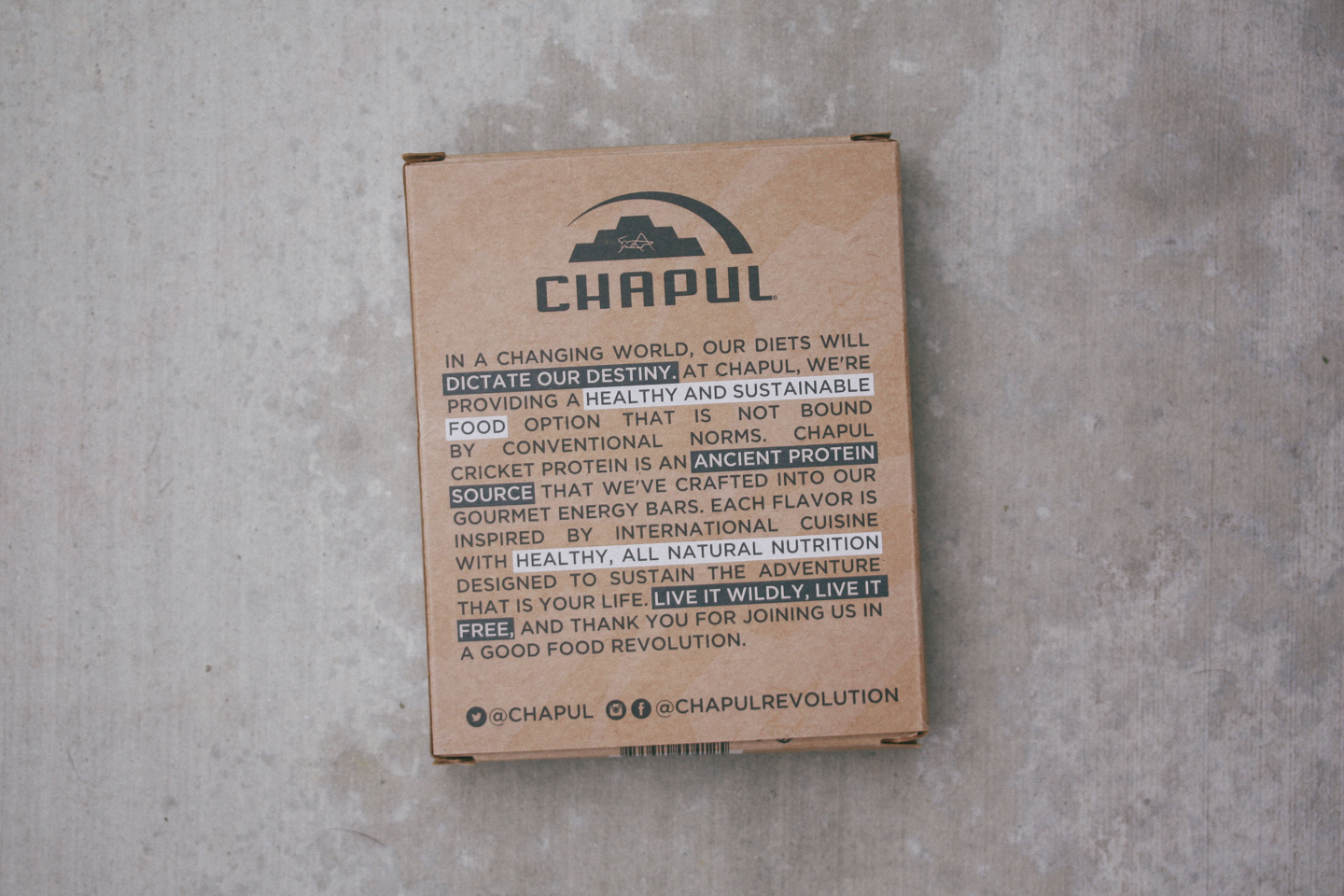 Reformulated Chapul Cricket Bar Review
