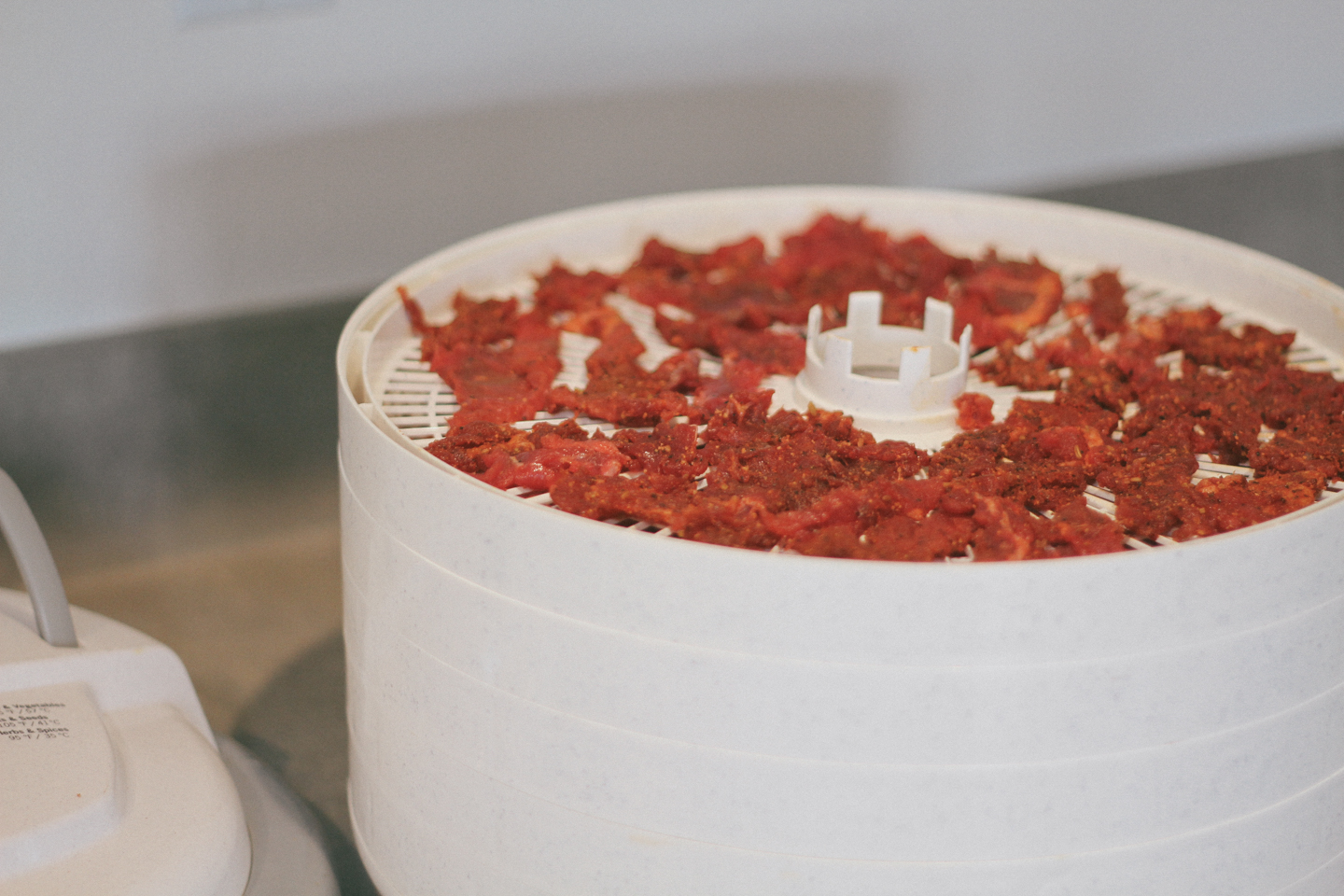 Load up the dehydrator